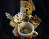 Vintage Tea Cup Bear Rosey Rose Wants a Home