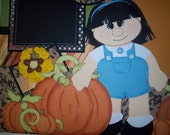 Fall\/Pumpkin Premade Pages Paper Piecing TPAB