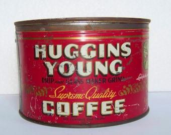 VINTAGE HUGGINS-YOUNG CoffeeTin