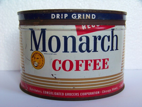 VINTAGE MONARCH COFFEE can