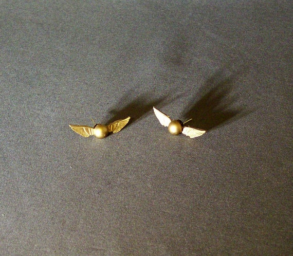 golden snitch earrings golden snitch earrings 9136