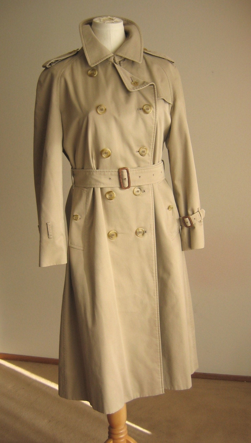 Shop Sale Vintage Classic Burberry Trench Coat By Thelovedone
