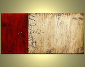 Original Contemporary abstract, modern oil painting,  48 inch art by Jacob P.