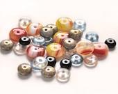 Czech glass saucer beads - 60 pc mix