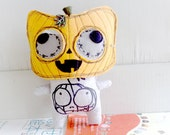 Clearance -Polly the pumpkin mask cat