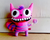 On Sales Alice in wonderland - The Cheshire mohawk Cat ( Made to order )