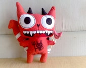 Clearance-Damian the evil davil cat (Made to order )
