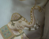 Silver Grey Royal Elephants - Vintage Cushion Cover - Jim Thompson