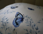 Blue Butterflies - Vintage Cushion Cover - Jim Thompson