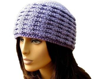 Crochet beanie patterns crochet patterns for women hat crochet pattern with Beading purple winter accessories pdf crochet tutorial