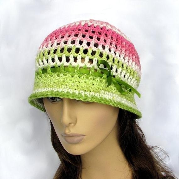 Crochet Hat Pattern Teenager : Crochet Hat Pattern Adjustable Cloche Teen to Adult pdf by ...