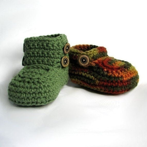 Boys Booties Pattern Crochet Baby Boots pdf
