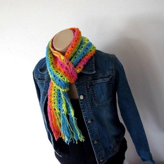 Crochet Scarf Pattern for Women crochet patterns crochet pattern with fringe crochet accessories