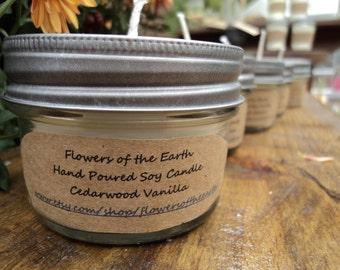 Cedarwood Vanilla Soy Candle 4 oz