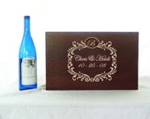 Custom Monogram Wedding Ceremony or Anniversary Time Capsule Wine box in Medium
