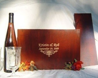 Ceremony Wedding or Anniversary Time Capsule Wine Box in Medium