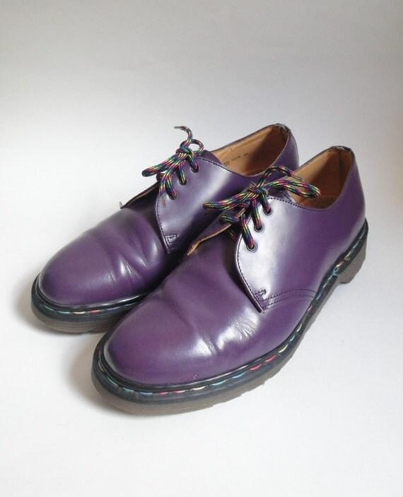 Vintage Purple Dr Martens Leather Shoes Men's size 10