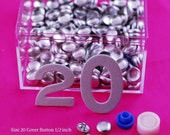 Size 20 Cover Buttons - Set of 100 - Free Shipping in US