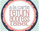Return Address Labels Add-on, Printable File (print at home)