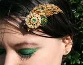 Saint Patrick's Favor - Hair Jewelry - Repurposed Vintage - FREE SHIPPING - ONE OF A KIND