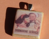 Submarine Service wooden time pendant