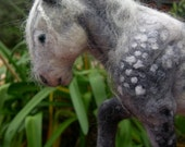Dapple Grey Felted Horse
