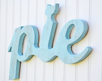 Kitchen Decor - Wall Word - Decoration for Home - Home Decor - Shabby Decor - Cottage Decor - Gift for her