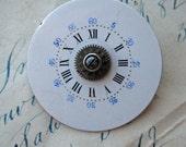 HALF PRICE Sale Steampunk Brooch Antique Pocket Watch Parts industrial pin gears wheels blue numbers