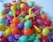 100 Vintage Mixed Fruit Beads