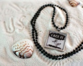 Help the Animals of the Oil Spill FACE IT Pendant SEAGULL made by 11 year old Kallee