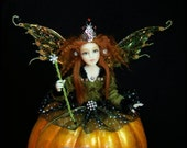 BE BACK AT MIDNIGHT OOAK Pumpkin Fairy Godmother Cinderella by Marcie Hart