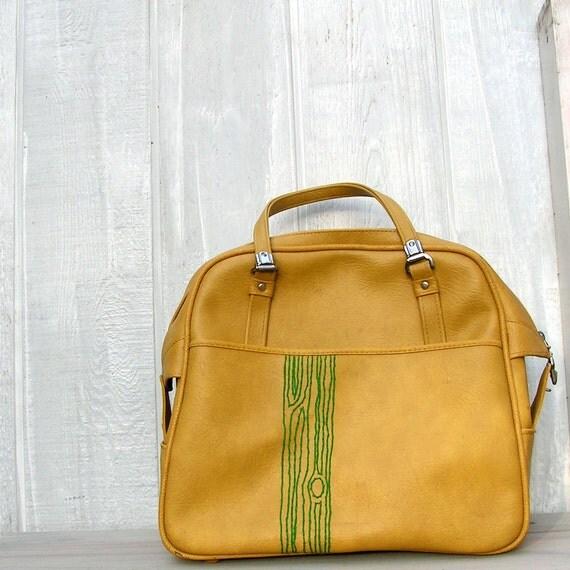faux bois overnight bag