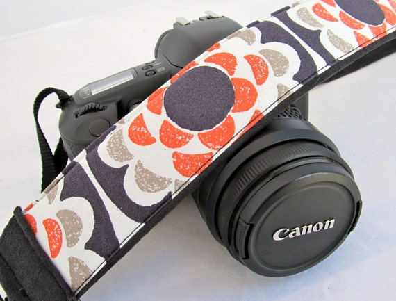 On SaLe...dSLR Camera Straps-Penny Wheel Flowers camera accessory for Canon, Nikon, Olympus and Sony