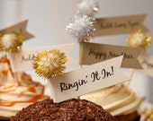 New Year Cupcake Toppers - Party Picks - Appetizer Picks