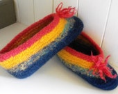 Felted Wool Slippers for Women Summer Vacation Cottage