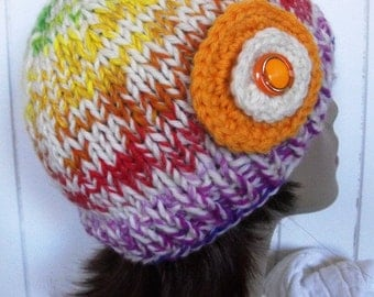Knitted Beanie Tuque Slouch Fun Hat  Sale