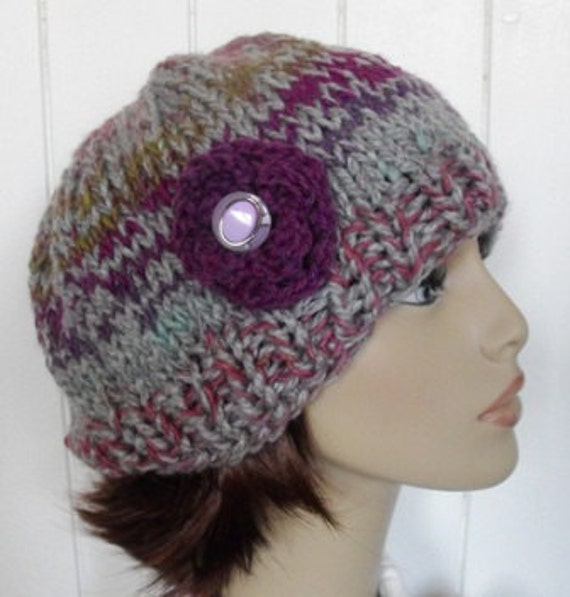 Slouch Beanie Hat Knitted for Women