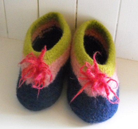 House and Home Cottage  Travel Felted Wool Slippers for Women and Girls December Sale