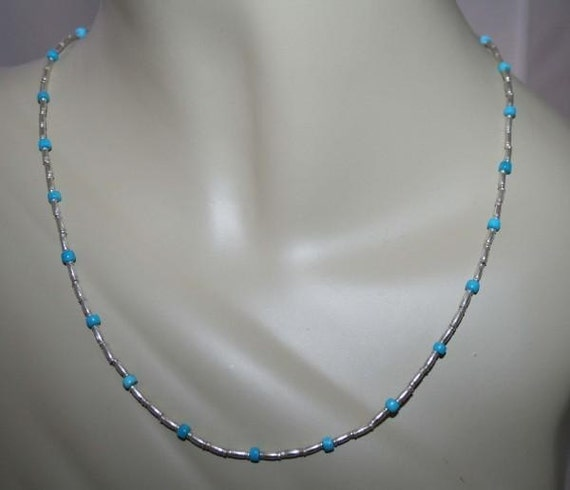 Necklace Unisex  Sterling silver ARIZONA TURQUOISE