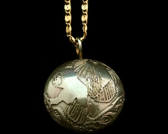 Brass Owl Capsule Pendant