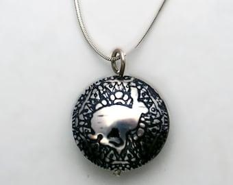 Medium or Midi Sterling Silver Hare Capsule Pendant