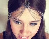 CHAIN HEADPIECE- chain headdress head chain SALE reg 40