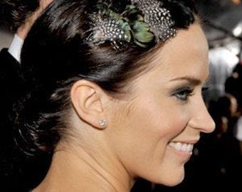 CARRINGTON- Lady Amherst and Guinea Feather Headband- celebrity style