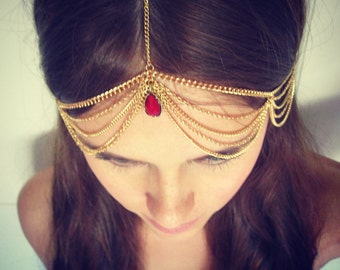 CHAIN HEADPIECE- chain headdress