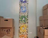 Made to Order - Salvaged Chakras - bottle cap tapestry