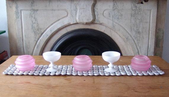 White - Bottle Cap Table Runner