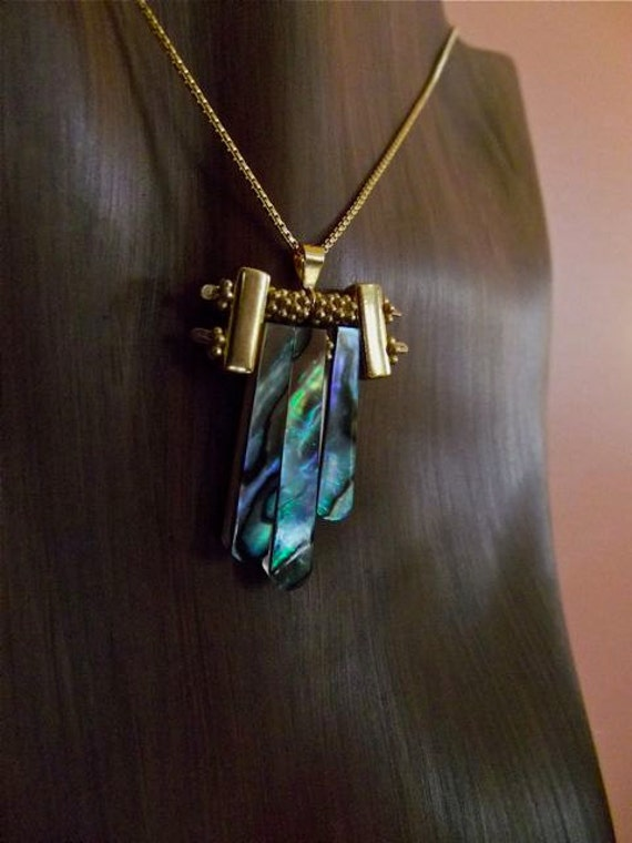 """22kt Vermeille and Abalone """" Mini Urchin"""" Necklace"""