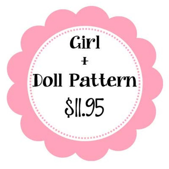 "Bundle: 1 Girl and 18"" doll pattern"