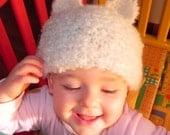 French Fuzzy Animal Ears Baby Cap Pattern PDF