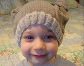 French Bear Two Knot Baby and Toddler Hat Pattern PDF